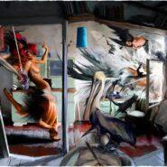 Caravaggio in wedding. Digital/oil on canvas.